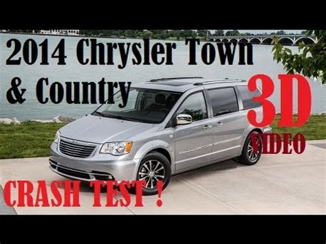 town and country test 2014 chrysler town country iihs crash test 3d