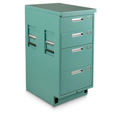 medical storage cabinets on wheels u s military surplus medical file cabinet used 592327