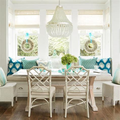 Ivory Cottage Dining Room with Ivory Bamboo Dining Chairs