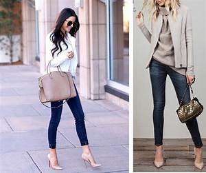 Perly Judith Moda Outfits con Tacones Beige u0026 Jeans