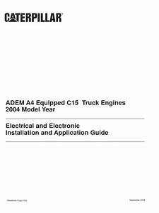 Adem A4 Equipped C15 Truck Engines   Electrical And