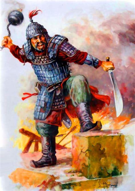 pin  mongol war art