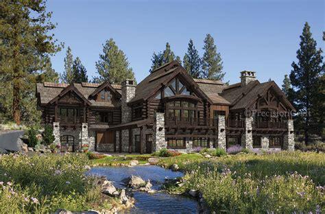buffalo creek lodge house plan  precision craft