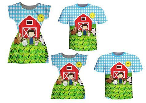 Camisetas Pai e Filho Vestidos Mãe e Filha Fazendinha no
