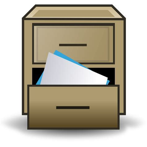 File:Filing cabinet icon.svg   Wikimedia Commons