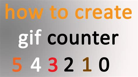 Create Gif Counter In Photoshop Easy Way Counter For