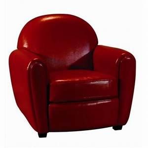 fauteuil club en cuir rouge pour vos salons With fauteuil club rouge pas cher