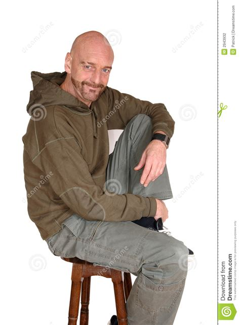 attractive middle aged man stock photography image