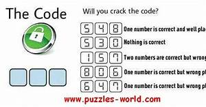 Will You Crack The Code Puzzles World