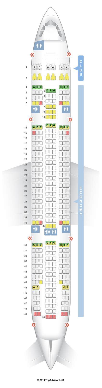 air transat selection siege seatguru seat map air transat airbus a330 200 332