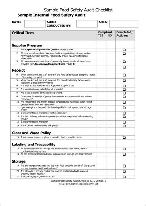 sample checklist samples templates  samples