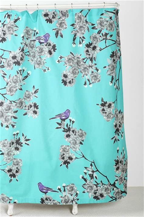 Pier 1 Imports Bird Curtains by Plum Bow Bird Blossom Shower Curtain Everything Turquoise