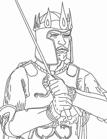 Coloring King Arthur Pages Saul Crown David