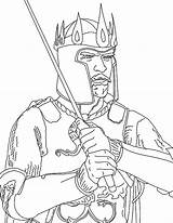 King Coloring Arthur Pages Saul Crown David Getcolorings Printable Colorings sketch template
