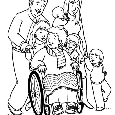 big family coloring pages sketch coloring page