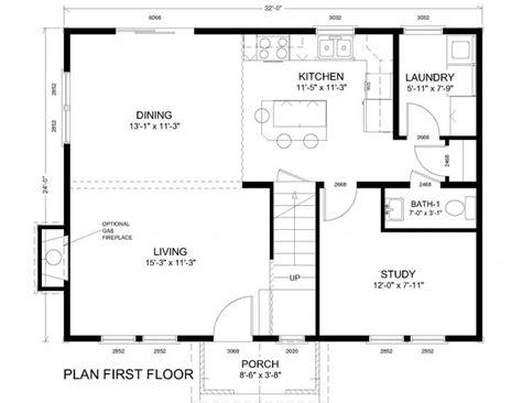 house plans 24 32 humble home design open concept