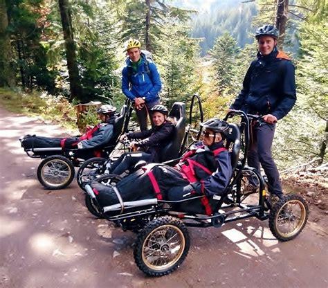 descentes en fauteuil tout terrain quadrix en autonomie
