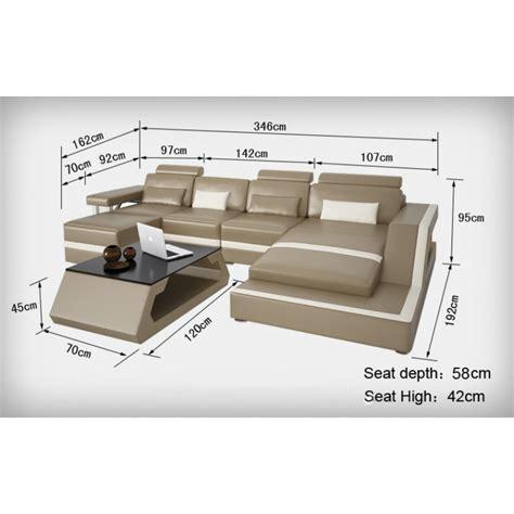 canapé dimension canapé d 39 angle design en cuir véritable tosca pouf pop