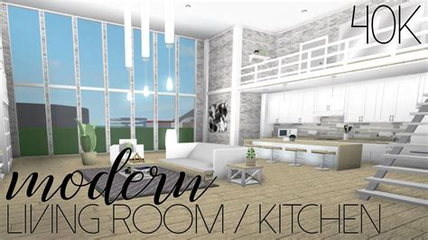 Modern Living Room/kitchen