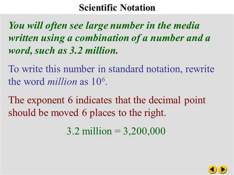 Algebra 83 Scientific Notation  Ppt Video Online Download
