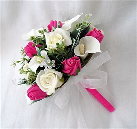 pink wedding flowers wedding flowers bouquets brides bouquet 2 posies cala lilies pink roses
