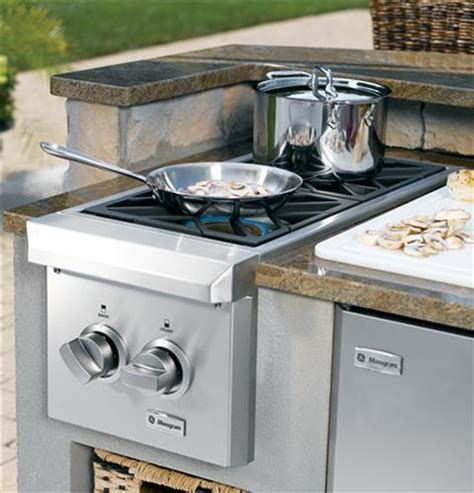 monogram dual burner outdoor cooktop natural gas zgunpss ge appliances