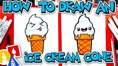Ice Cream Draw Vanilla Serve Soft Artforkidshub