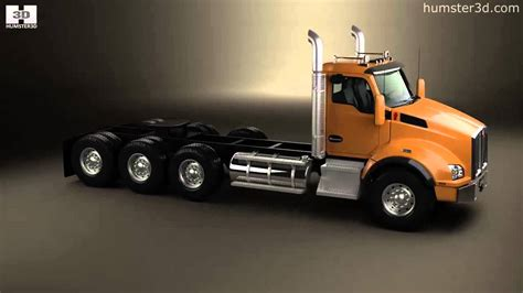 kenworth 2013 models kenworth t880 chassis truck 4 axle 2013 by 3d model store