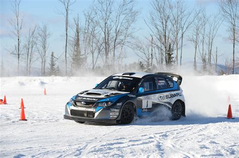 subaru snow learning to drive a subaru wrx sti rally car in the snow