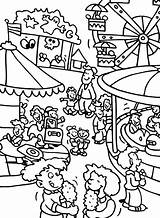 Coloring Pages Carnival Park Amusement Fair Theme County Fun Drawing Activity Adult Games Printable Contest Getcolorings Football Sheets Getdrawings Pa sketch template