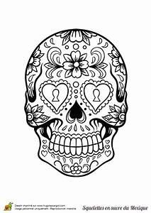 Dessin Tete De Mort Avec Rose : coloriage squelette sucre serrure fleurs sur ~ Melissatoandfro.com Idées de Décoration