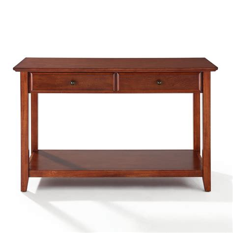 sofa table with storage crosley sofa table with storage drawers by oj commerce 199 00