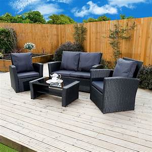 Rattan Lounge Set : 4 piece algarve rattan sofa set for patios conservatories and terraces made from abreo and ~ Orissabook.com Haus und Dekorationen