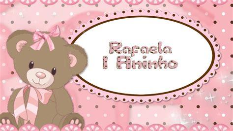 retrospectiva rafaela 1 aninho tema ursinha marrom e rosa youtube