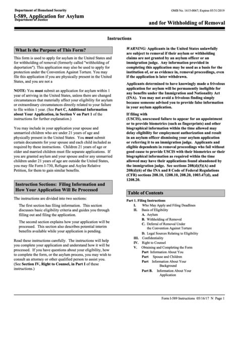 form i 589 application for asylum instructions for form i 589 application for asylum and