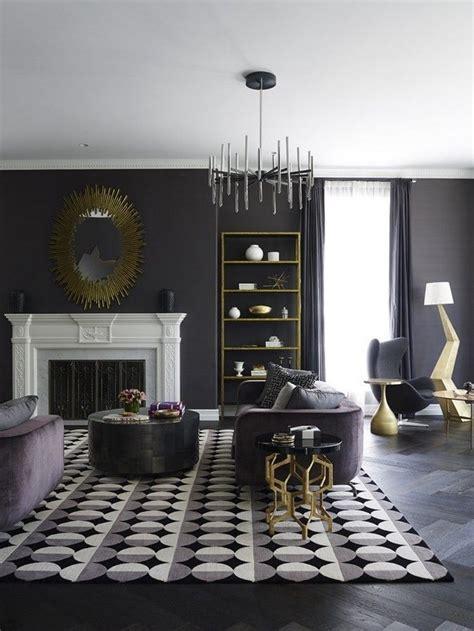 mysterious  sophisticated dark living room design