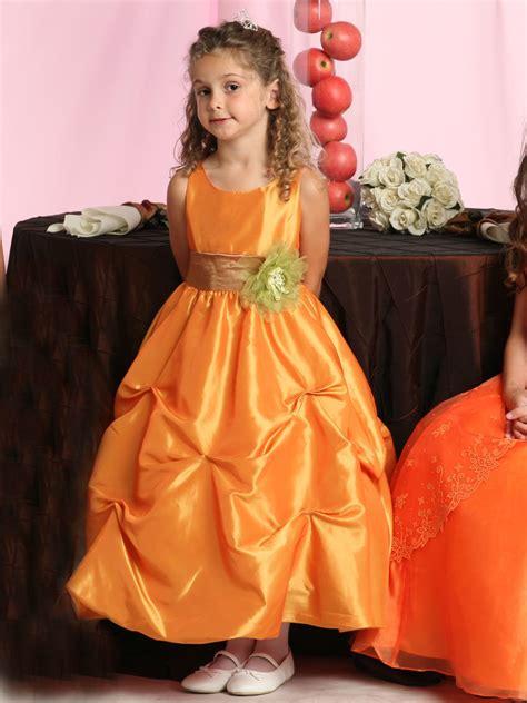 china taffeta scoop  girl flower girl dress