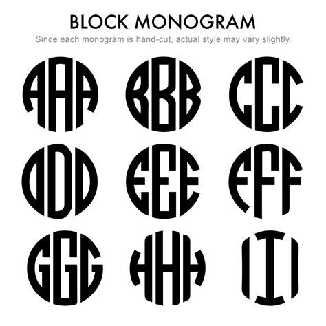 mini  initial block style monogram  silver