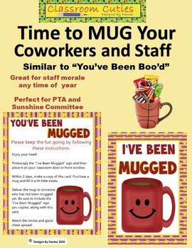 youve  mugged game printables  staff  designz