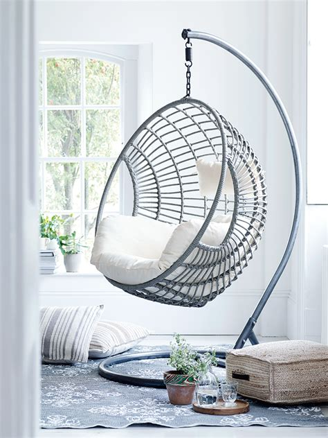 indoor swing design of the indoor swing chair with silver color