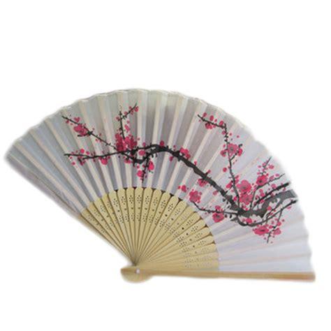 japanese silk hand fans new retro style exquisite japanese silk plum flower