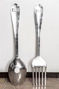 large fork and spoon wall hanging at 1stdibs With spoon and fork wall decor