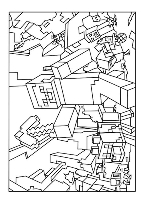 free printable minecraft coloring pages coloring home