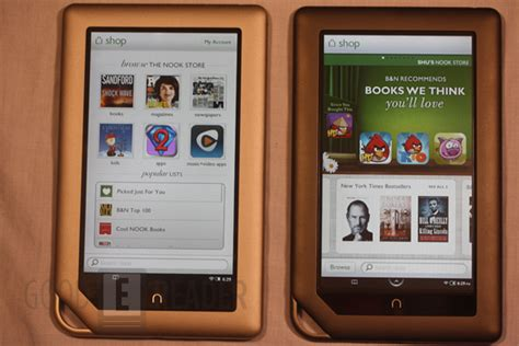 Barnes And Noble Nook Tablet And Nook Color Comparison Video
