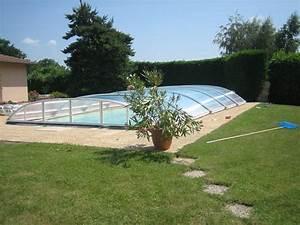 Abri Piscine Bas Coulissant : poolabri abri piscine bas telescopique luxe ~ Zukunftsfamilie.com Idées de Décoration