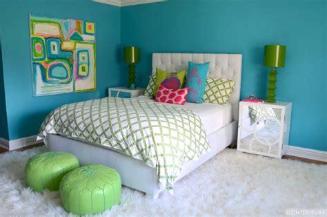 peinture chambre ado fille décorer les murs d une peinture turquoise 38 idées d été