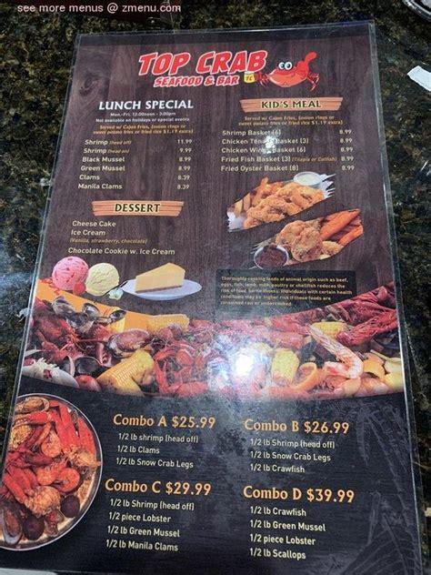 menu  top crab seafood bar restaurant augusta