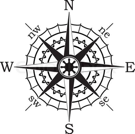 compass black and white vector black compass stock vector colourbox