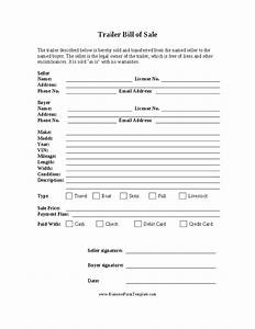 Rv Bill Of Sale Form Camper Bill Of Sale Form Free Free Printable Documents