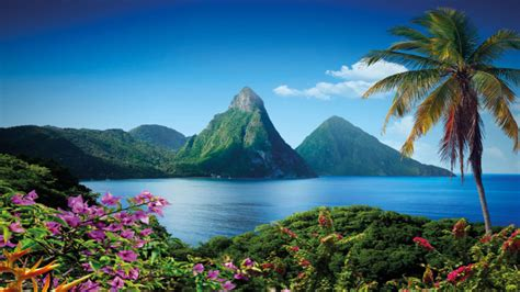 gros piton mountain  saint lucia caribbean island wallpaper hd  wallpaperscom